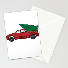 "Funny and cute ""Santa's Jeep Christmas Tree"" Makes a nice and awesome gift for everyone this holiday Stationery Cards"