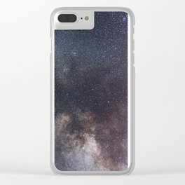 Detailed view of the Milky Way Clear iPhone Case