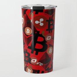 Сryptocurrencies money pattern Travel Mug