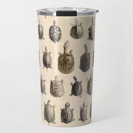 Vintage Turtles Pattern Travel Mug