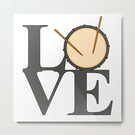 Love Drums Metal Print