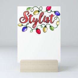 Christmas Attire Christmas Stylist Christmas Lights Mini Art Print