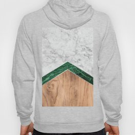 Arrows - White Marble, Green Granite & Wood #941 Hoody