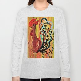 Curly Rooster Long Sleeve T-shirt
