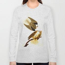 Black Winged Hawk Illustration Long Sleeve T-shirt