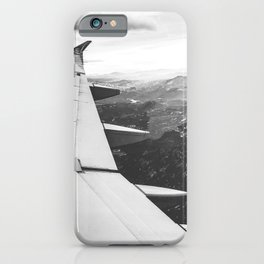 Mountain State // Colorado Rocky Mountains off the Wing of an Airplane Landscape Photo iPhone Case