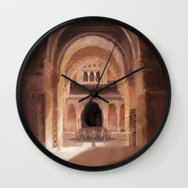 Patio de los Leones Wall Clock