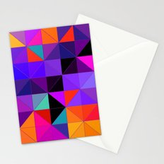 Purple and orange 2 Stationery Cards