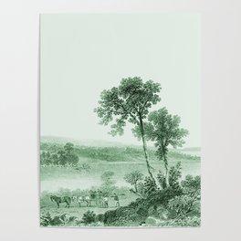 Vintage Lake Champlain  (Green) Poster