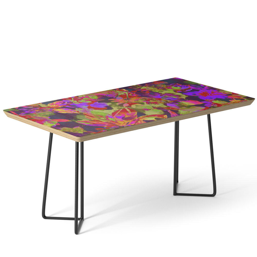 Colorful Floral With Purple Accent Coffee Table by clemm