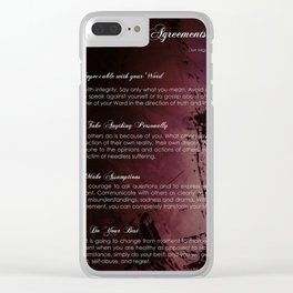 The Four Agreements 3 Clear iPhone Case