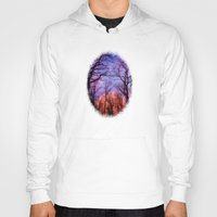 moonrise Hoodies featuring Moonrise Canyon by Pirmin Nohr