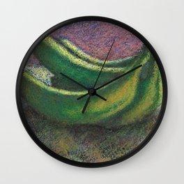 Green bananas Wall Clock