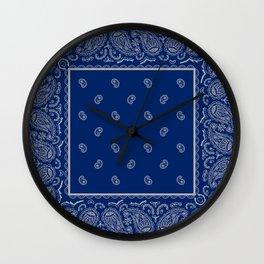 Classic Navy Blue with Gay Bandana Wall Clock
