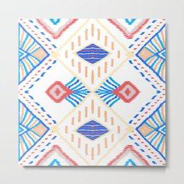 African culture batik fabric. Metal Print