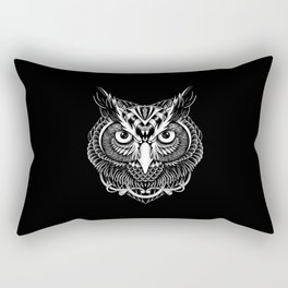 Owl Ornate Rectangular Pillow