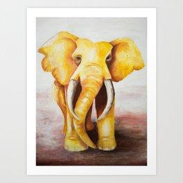 The Golden Elephant Art Print