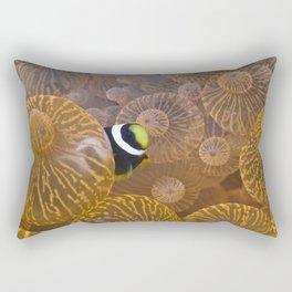 Clownfish in Anemone Rectangular Pillow