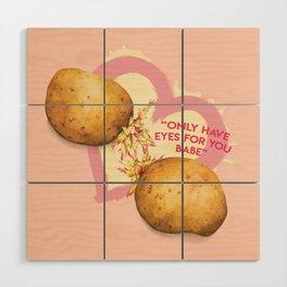 Food Pun - Potato Romance Wood Wall Art