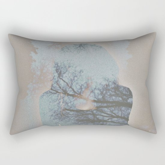 A Ghost in the Trees Rectangular Pillow