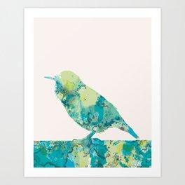 Pink tweet Art Print