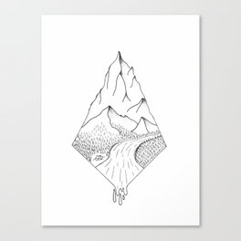 Camping Mountain Canvas Print