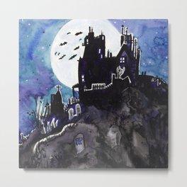 Spooky Mansion Metal Print