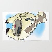 airbender Area & Throw Rugs featuring Appa by Kurew Kreations