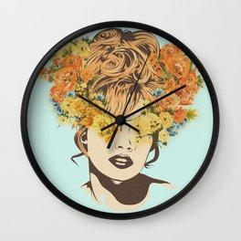 Tropical Lady Wall Clock