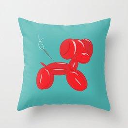 balloon dog Throw Pillow