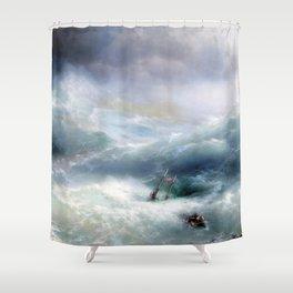 Ivan Aivazovsky - The Wave Shower Curtain