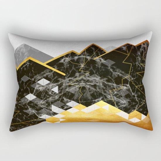Golden Lake Rectangular Pillow