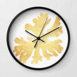 Golden coral Wall Clock