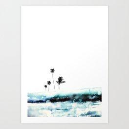 Palm 04 (Blue) Art Print
