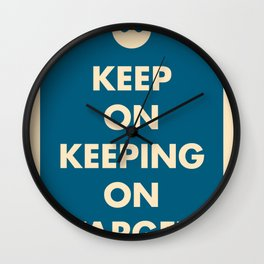 Keep On Keeping On Target (Blue) Wall Clock