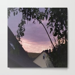 Violet sunshine in the evening Metal Print