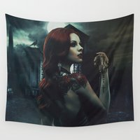 revolution Wall Tapestries featuring Ophéliac Revolution by Erica Petit Illustrations