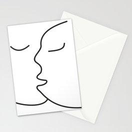 Minimalist Line Drawing Kiss Canvas #society6 #decor #buyart #artprint Stationery Cards