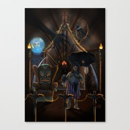 The Haunted Tiki Mansion Room by Topher Adam 2017 Canvas Print