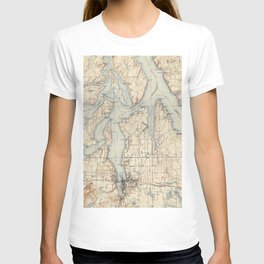 Vintage Map of The Puget Sound (1934) T-shirt