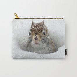 Cute Pop-up Squirrel in the Snow Carry-All Pouch