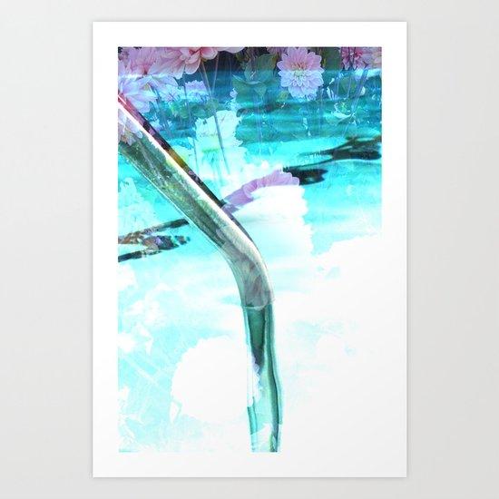swim pool Art Print
