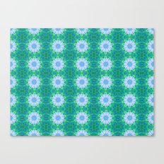 Turquoise Mosaic flowers Canvas Print