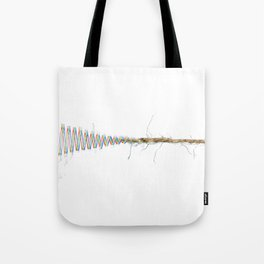 Quantum String/Wave Tote Bag
