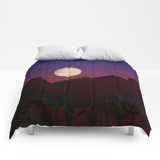 Moon Over The Desert Comforters