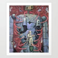 miyazaki Art Prints featuring Homage To Miyazaki by Haslin