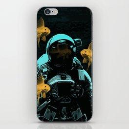 astronauts and goldfish iPhone Skin