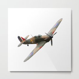 Hurricane WWII Allied fighter plane Metal Print