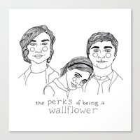 the perks of being a wallflower Canvas Prints featuring The Perks of Being a Wallflower by ☿ cactei ☿
