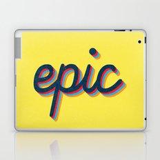 Epic - yellow version Laptop & iPad Skin